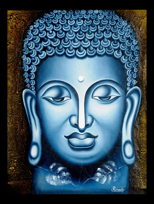 Lord buddha, Painting - Figurative - Ind by Ramesh | Buy ...