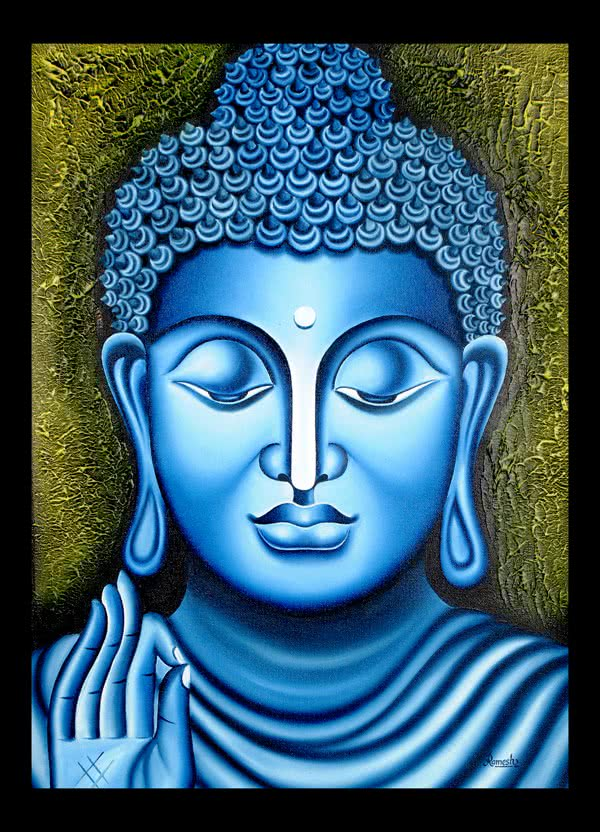 Lord buddha, Painting - Figurative - Ind by artist Ramesh ...