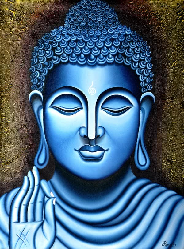 Lord buddha, Painting - Figurative - Ind painting by ...