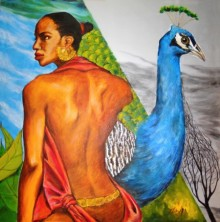 Mixed Media Painting titled 'The Vain The Glory' by artist Partho Sengupta on PVC Board
