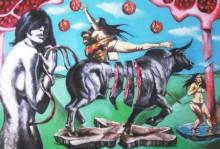 Mixed Media Painting titled 'Gods Workshop' by artist Partho Sengupta on Canvas