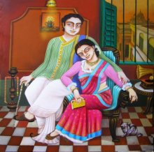 Gautam Mukherjee | Acrylic Painting title Nostalgia on Canvas | Artist Gautam Mukherjee Gallery | ArtZolo.com