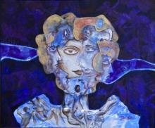 DADA | Acrylic Painting title Multiplicity Of Human on Canvas | Artist DADA Gallery | ArtZolo.com