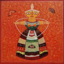Sweet doll 1 | Painting by artist Bhaskar Lahiri | acrylic | Canvas