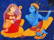 Religious Acrylic Art Painting title Kunjaban by artist Bhaskar Lahiri