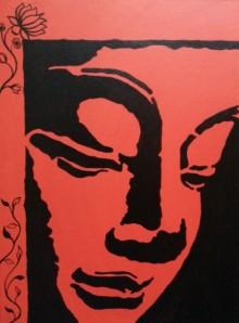Abstract Acrylic Art Painting title 'Buddha 02' by artist Gayathri Nair