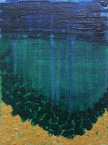 Abstract Acrylic Art Painting title 'Deep Sea' by artist Gayathri Nair