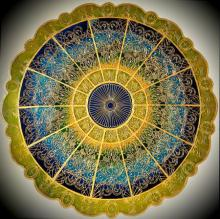 Sky light mandala   Glass art by artist Shweta Vyas