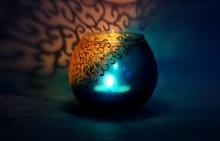 Candle holder   Glass art by artist Shweta Vyas