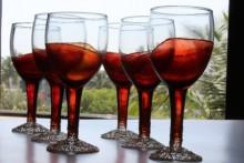 Coloured drinking glasses   Glass art by artist Shweta Vyas