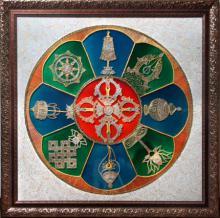 Ashtamangala   Glass art by artist Shweta Vyas