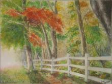 Landscape Watercolor Art Painting title Mystic Woods by artist Lasya Upadhyaya