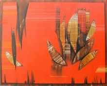 Conquer Abstract 5 | Painting by artist Rahul Dangat | acrylic | Canvas