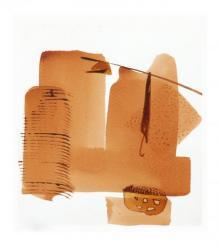 Veena Jain | Mixed-media Painting title Abstract Viii on Paper | Artist Veena Jain Gallery | ArtZolo.com