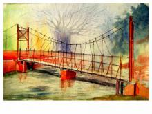 Biki Das Paintings | Watercolor Painting - Plain air by artist Biki Das | ArtZolo.com