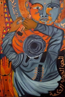 Nishant Mishra | Oil Painting title Bamyan on Canvas | Artist Nishant Mishra Gallery | ArtZolo.com