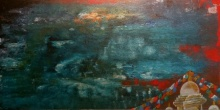 The Lake Of Mind | Painting by artist Nishant Mishra | acrylic | Canvas