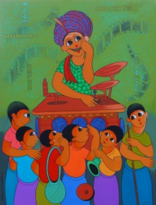 Dnyaneshwar Bembade | Acrylic Painting title Bioscope on Canvas | Artist Dnyaneshwar Bembade Gallery | ArtZolo.com