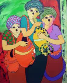 Music I | Painting by artist Dnyaneshwar Bembade | acrylic | Canvas