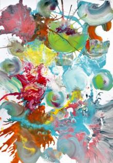 Abstract Acrylic Art Painting title 'Pop Fluid No 3' by artist Sumit Mehndiratta