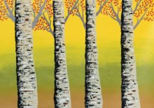 Early Autumn  | Painting by artist Sumit Mehndiratta | acrylic | Canvas