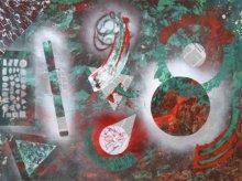 Abstract Mixed-media Art Painting title 'Keplar' by artist Sumit Mehndiratta