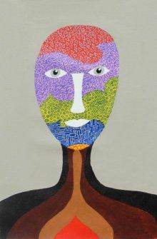 Portrait Acrylic Art Painting title 'Kyliv' by artist Sumit Mehndiratta