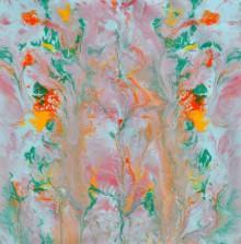 Abstract Acrylic Art Painting title 'Nirvana' by artist Sumit Mehndiratta