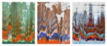 Abstract Acrylic Art Painting title 'Untitled No 50 21x15 Inches Each' by artist Sumit Mehndiratta