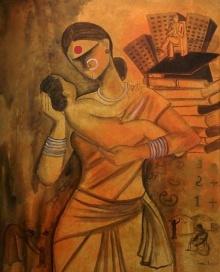 Joy | Painting by artist Janaki Injety | acrylic | Canvas