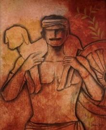 Serene Life | Painting by artist Janaki Injety | acrylic | Canvas