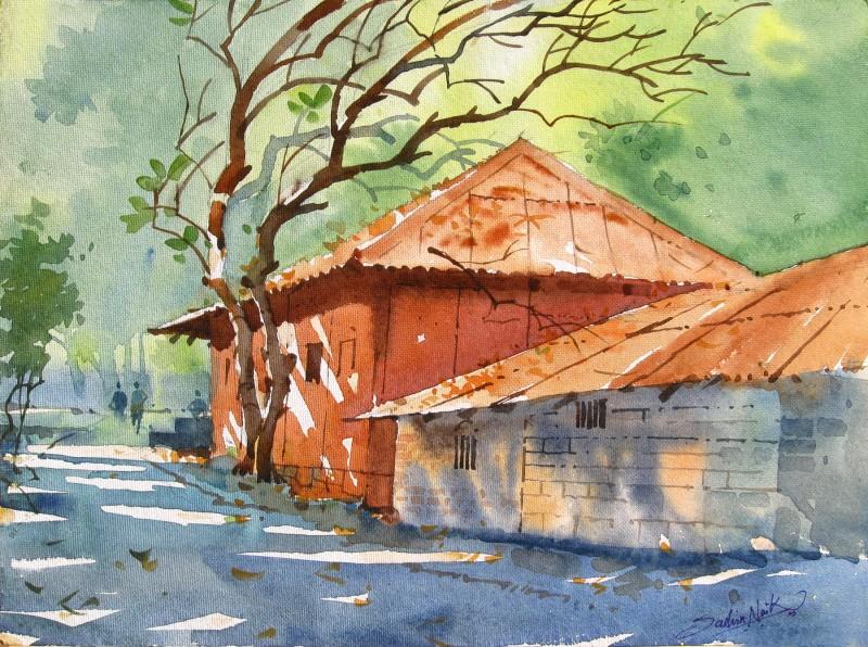 Watercolour Landscapes By Artist Sachin Naik Artzolo Com