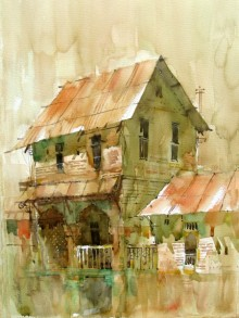 Sachin Naik Paintings | Watercolor Painting - WATERCOLOUR LANDSCAPES by artist Sachin Naik | ArtZolo.com