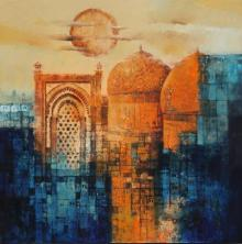 Cityscape Acrylic Art Painting title Aq Arif Artwork by artist Aq Arif