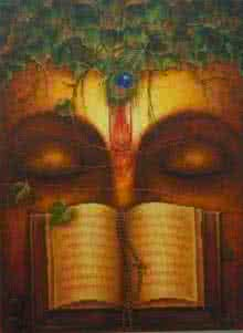 Dharma Gyan | Painting by artist Rakhi Baid | oil | Canvas