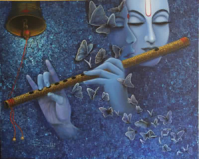 Radha Krishna I by artist Rakhi Baid | Religious Art ...