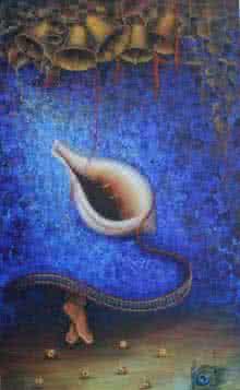 Shankh Leela | Painting by artist Rakhi Baid | acrylic | Canvas