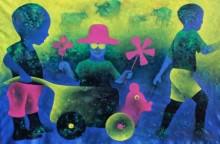 Athkheliya 2 | Painting by artist Lakhan Singh Jat | acrylic | Canvas