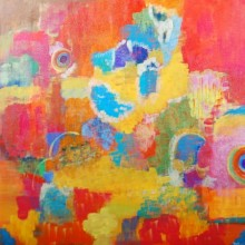 Dipti Pandit Paintings | Abstract Painting - Clouds of Krishna Clouds of Color by artist Dipti Pandit | ArtZolo.com