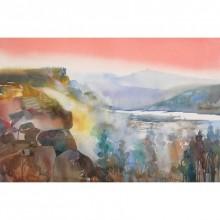 Sunil Kale | Watercolor Painting title Mindcsape 32 on Paper | Artist Sunil Kale Gallery | ArtZolo.com