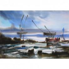 Ocean moods 9 | Painting by artist Sunil Kale | watercolor | Paper