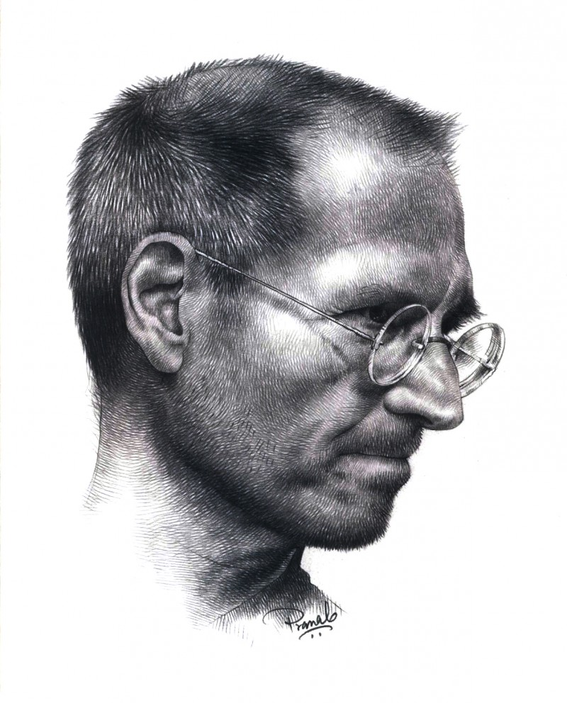 Steve jobs drawing by artist pranab das pencil paper