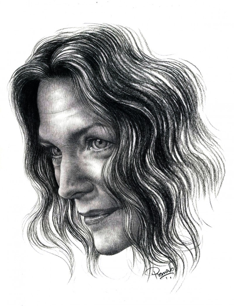 Michelle pfeiffer drawing by artist pranab das pencil paper