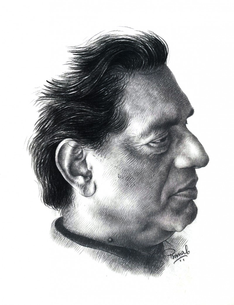 Ray drawing by artist pranab das pencil paper