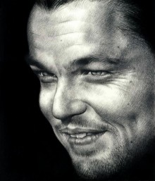 Pencil Paintings | Drawing title Leonardo DiCaprio on Paper | Artist Pranab Das