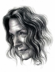 Pencil Paintings | Drawing title Michelle Pfeiffer on Paper | Artist Pranab Das