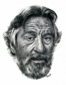 Pencil Paintings | Drawing title Robert De Niro on Paper | Artist Pranab Das