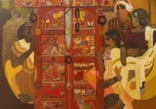 Figurative Acrylic Art Painting title Door 8 by artist Siddharth Shingade