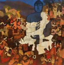Gautama Budhha 1 | Painting by artist Siddharth Shingade | acrylic | Canvas