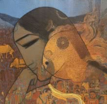 Siddharth Shingade | Acrylic Painting title Gold Fish 4 on Canvas | Artist Siddharth Shingade Gallery | ArtZolo.com